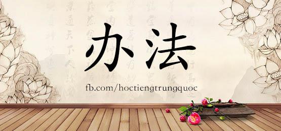 0309 – 办法 – HSK3 – Từ điển tam ngữ 5099 từ vựng HSK 1-6