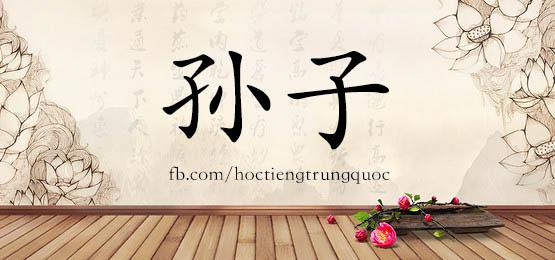 1016 – 孙子 – HSK4 – Từ điển tam ngữ 5099 từ vựng HSK 1-6