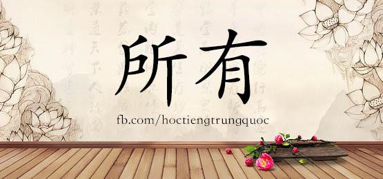 1017 – 所有 – HSK4 – Từ điển tam ngữ 5099 từ vựng HSK 1-6