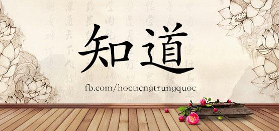 0296 – 知道 – HSK2 – Từ điển tam ngữ 5099 từ vựng HSK 1-6