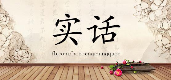 2044 – 实话 – HSK5 – Từ điển tam ngữ 5099 từ vựng HSK 1-6