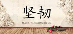 3391 – 坚韧 – HSK6 – Từ điển tam ngữ 5099 từ vựng HSK 1-6