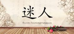 3744 – 迷人 – HSK6 – Từ điển tam ngữ 5099 từ vựng HSK 1-6