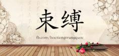4194 – 束缚 – HSK6 – Từ điển tam ngữ 5099 từ vựng HSK 1-6
