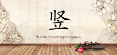 4196 – 竖 – HSK6 – Từ điển tam ngữ 5099 từ vựng HSK 1-6